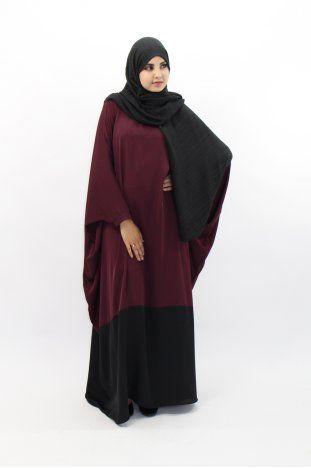 Abaya papillon bi color