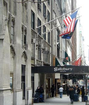 New York, New York (and I love the Salisbury Hotel there!)