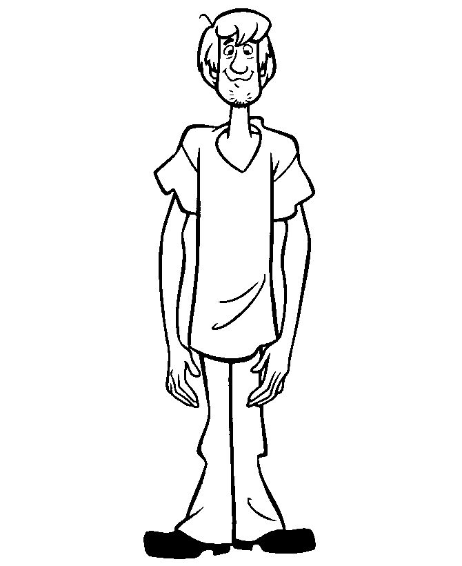 scooby doo coloring pages shaggy
