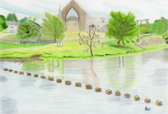 Bolton Abbey Poster 16x12 by BavsCrafts on Etsy, £13.00