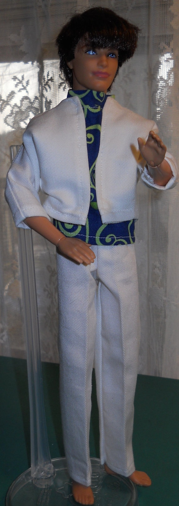 Handmade Ken 3 piece outfit by AuntieLousCrafts on Etsy, $10.00