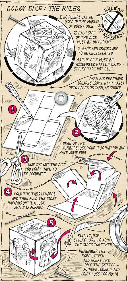 how to make a paper dice easy