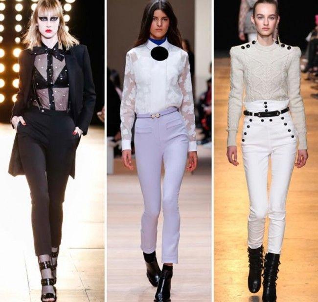 Tendenze Moda autunno inverno 2015 2016 Pantaloni skinny a vita alta