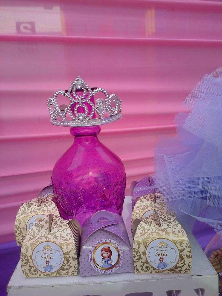 Princesa Sofía Birthday Party favors!  See more party planning ideas at CatchMyParty.com!
