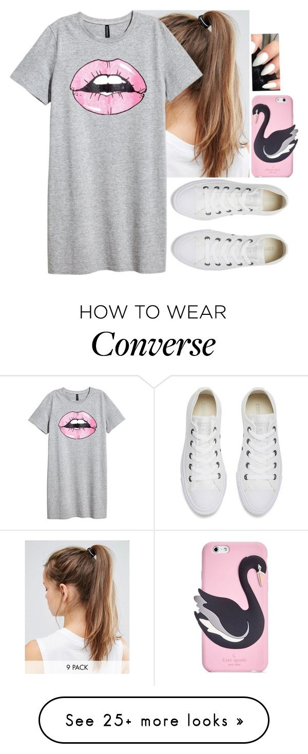 """""""☁️☁️☁️☁️"""" by hannahmcpherson12 on Polyvore featuring NIKE, Converse and Kate Spade"""