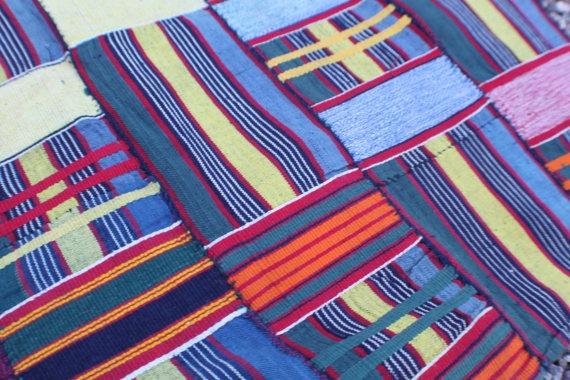 Ewe Kente Cloth from Ghana Africa  Vintage by WomanShopsWorld, $180.00: African Textiles, Yellow Stripes, Stripes Tribal, African Fabrics, 1970S, Asant Kent, Motif Africain, Southeastern Ghana, Africa Vintage