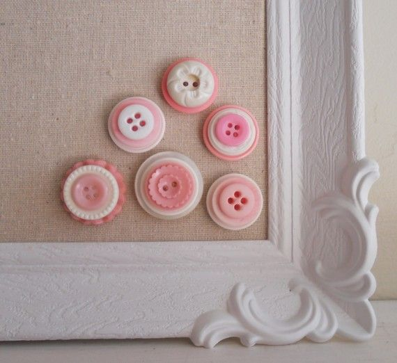 Button Magnets.  Go through your button stash and glue layers together and add a magnet.  Very cute!!