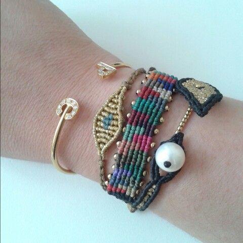 Custom made letter Bracelet and Tatiana Choremi bracelets #lisboa #bracelet #tatianachoremi #musthave #shoponline