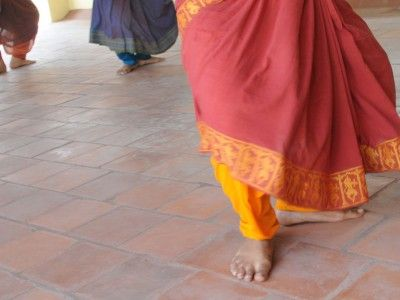 Stamping Feet Bharata Natyam Dancers, Chennai, Tamil Nadu India