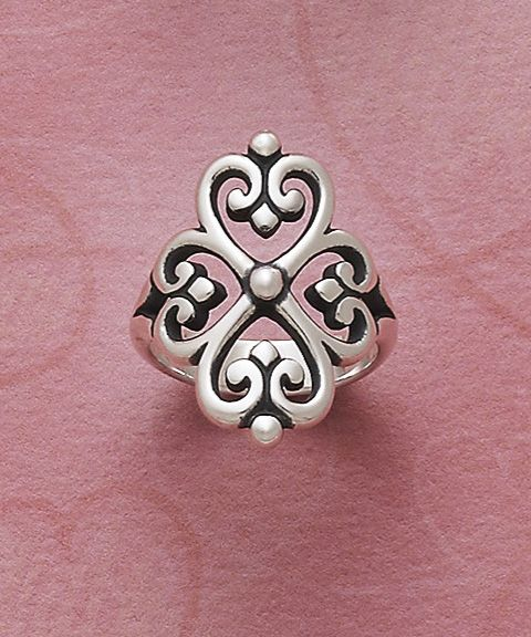 Adorned Hearts Ring #JamesAvery #HeartRing #Hearts