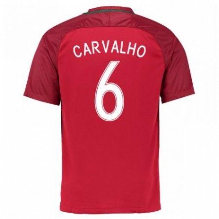 Portugal 2016 Carvalho 6 Hjemmedraktsett Kortermet.  http://www.fotballteam.com/portugal-2016-carvalho-6-hjemmedraktsett-kortermet.  #fotballdrakter