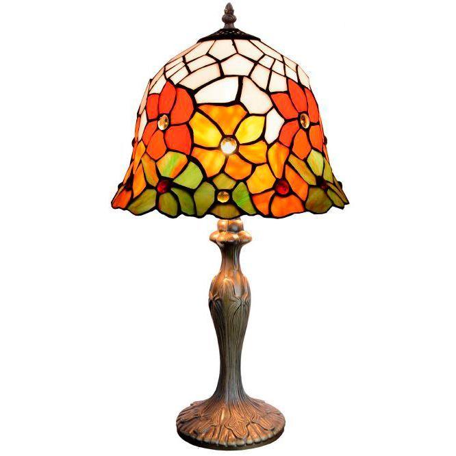 Lampara de mesa Tiffany Floral Campana