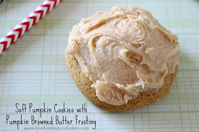 Soft Pumpkin Cookies with Pumpkin Browned Butter Frosting 2 by ...