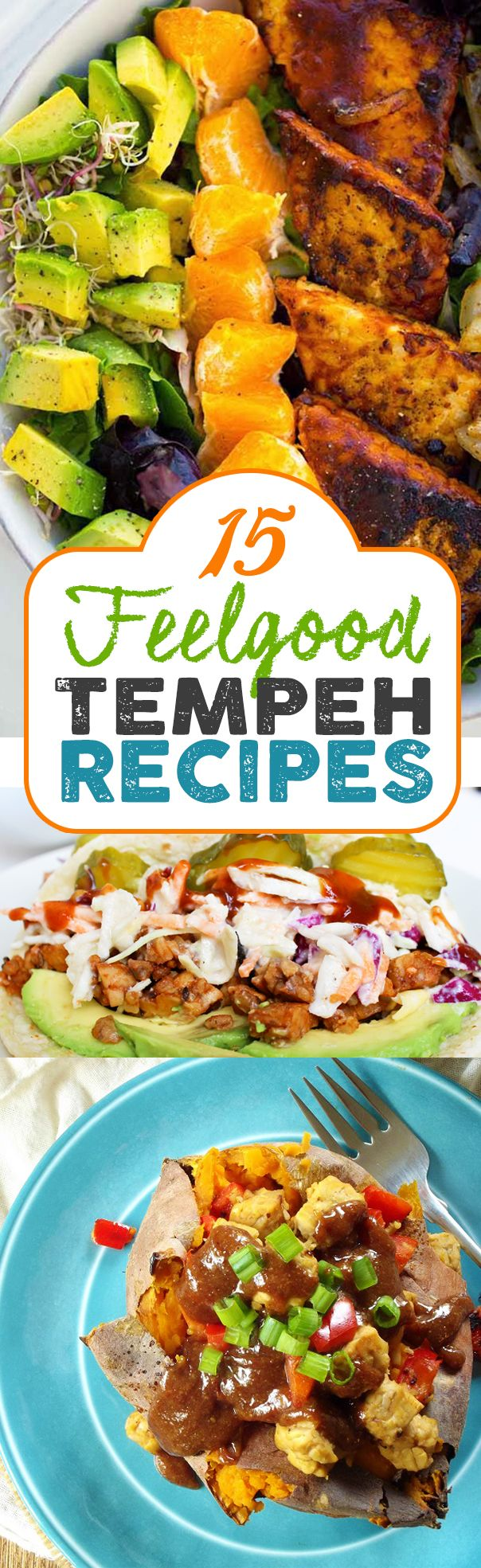 15 of the Best Vegan Tempeh Recipes! Simple, delicious! #vegan #recipes #vegetarian #veggie #recipe