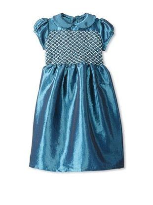 63% OFF Isabel Garreton Kid's Hand Smocked and Embroidered Dress (Teal)