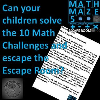Math Escape Room - Number, Four Operations - 10 Challenges ...