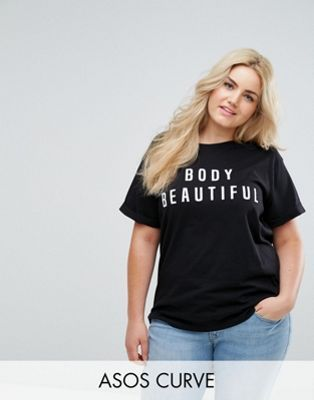 ASOS CURVE T-Shirt with Body Beautiful