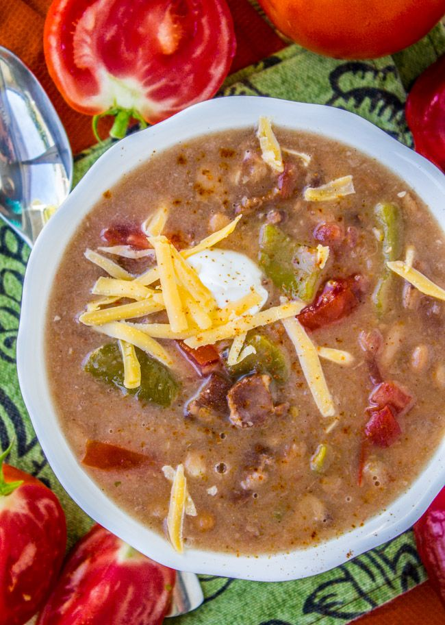 Cowboy Pinto Bean Soup (Slow Cooker) - The Food Charlatan