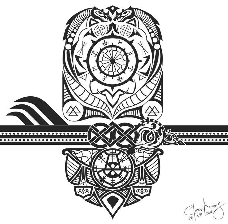 25 best viking tattoo images on pinterest viking tattoos celtic tattoos and norse tattoo. Black Bedroom Furniture Sets. Home Design Ideas