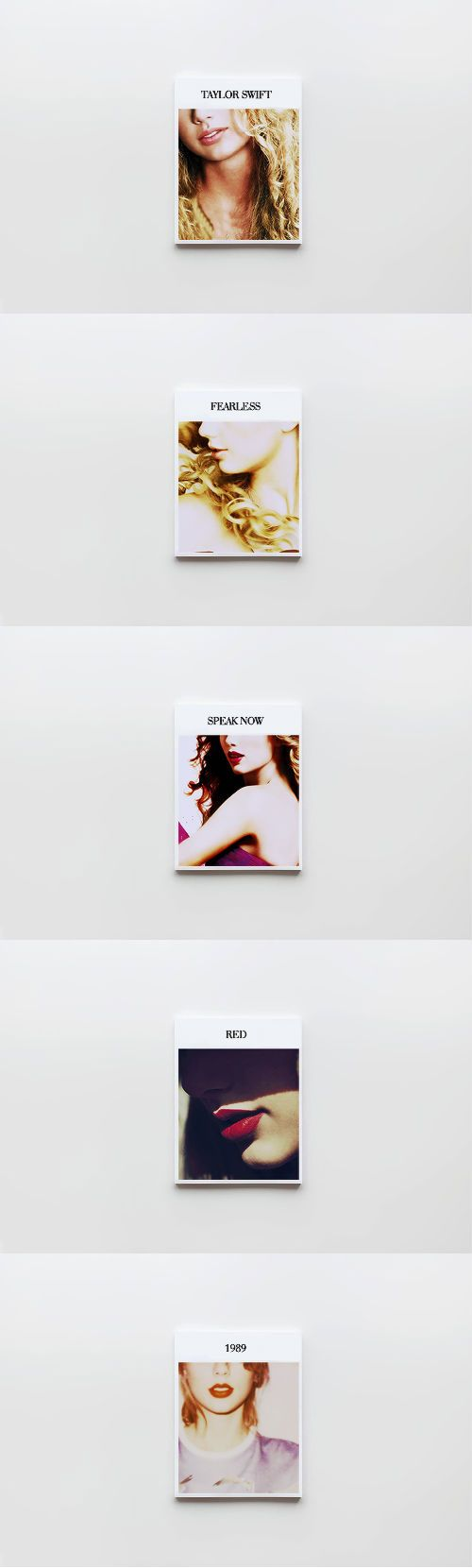 Taylor Swift album covers + lips