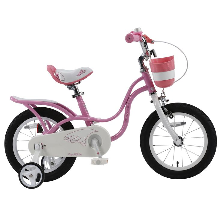 RoyalBaby 2017 newly-developed Little Swan Girl's Bike with basket, 16 inch with training wheels and kickstand, gifts for kids, girls' bicycles