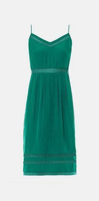 Sierra sheer mesh-insert dress