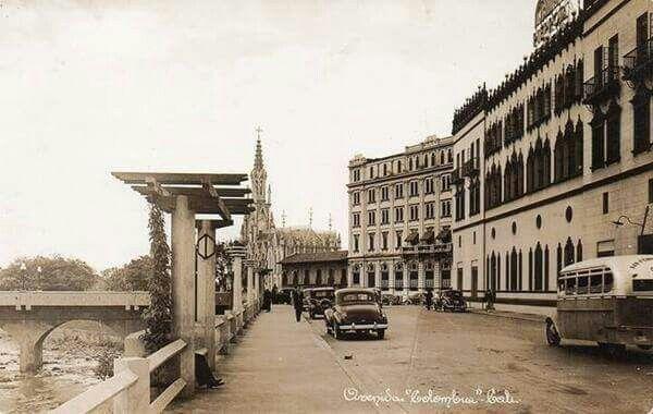 Avenida Colombia en la Década del 50. Hoy Bulevar del Rio.    *FUENTE: Fotos Antiguas de Santiago de Cali (grupo)