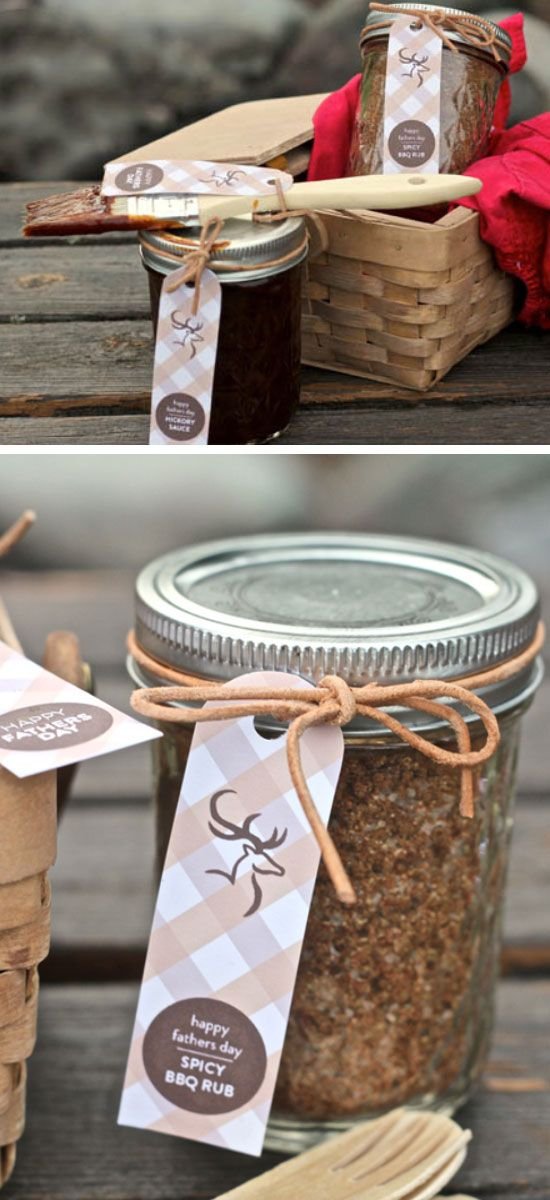 Handmade BBQ Sauce Pack | Click Pic for 22 DIY Fathers Day Gift Ideas from Kids to Dad | DIY Gift Ideas for Him