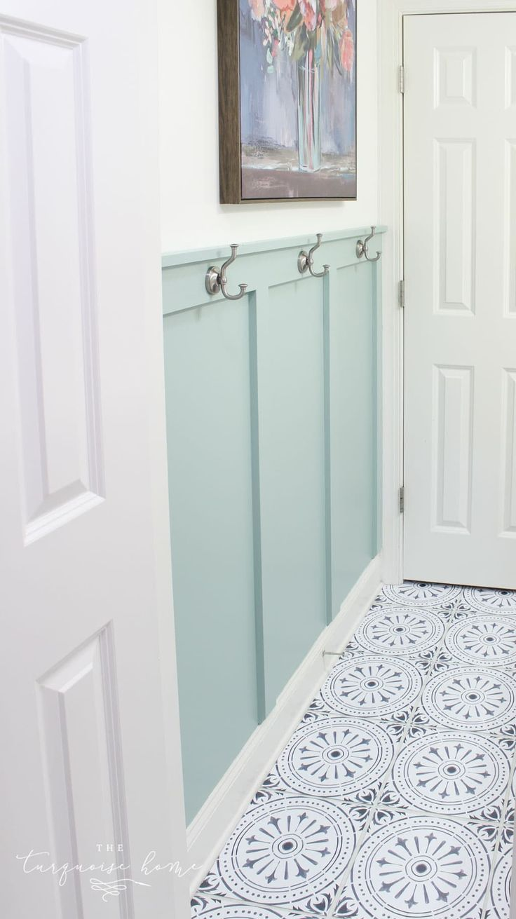 Diy Peel And Stick Vinyl Floor Tile The Turquoise Home Cheap Bathroom Flooring Small Bathroom Tiles Diy Flooring