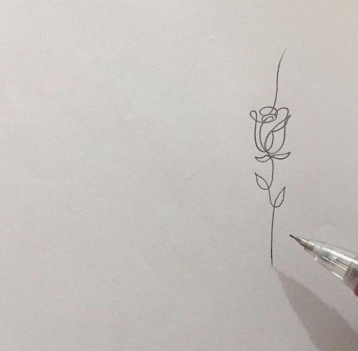 Eine Zeile Tatowierung Onelinetattoo Eine Linienzeichnung Einer Rose So Einfach Und Schon In 2020 Body Art Tattoos Tattoos Maria Tattoo