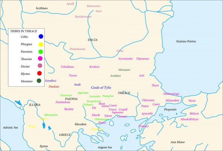 Map of the Tribes in Thrace (Illustration) - Ancient History Encyclopedia