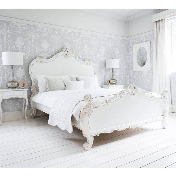 Provencal Sassy White French Bed   Luxury Bed