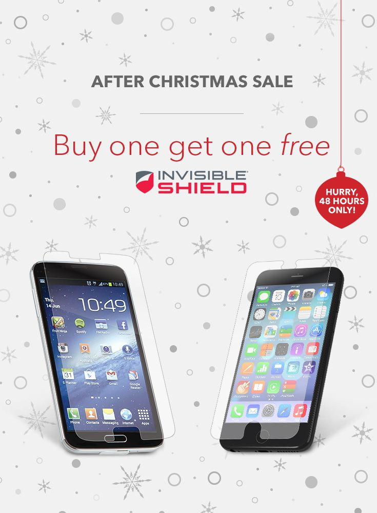 Don't leave your new presents unprotected! Get InvisibleShield with BOGO Today!