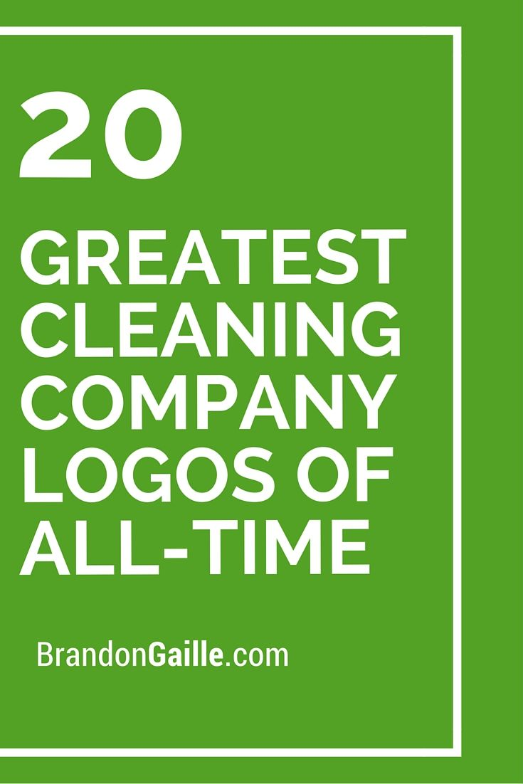 20 Greatest Cleaning Company Logos of All-Time