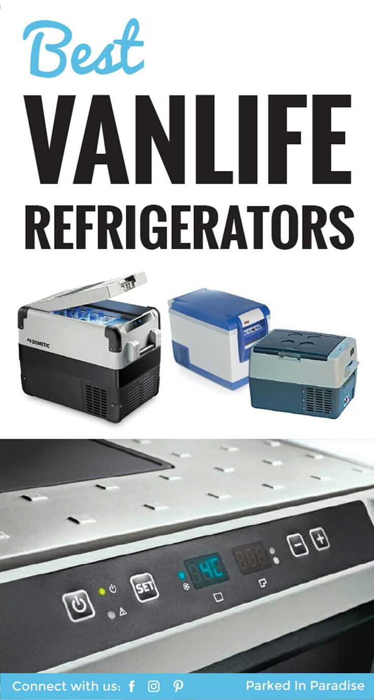 Awesome overview of all the best refrigerator for vanlife, camper vans, road trips and RV builds! There's a great chart in this article outlining the pros and cons of each portable refrigerator. All of them run off solar panels. It is the perfect #vanlife kitchen setup! via @parkedinparadise