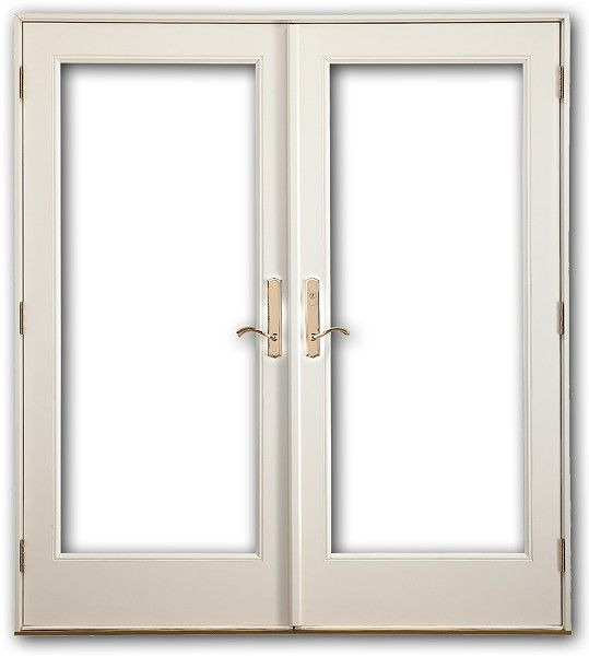 Fiberglass exterior double door complete unit includes 4 9 for White french doors exterior