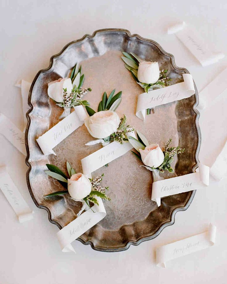 A Malibu Wedding With A Surprise Reception Location: 17 Best Images About Wedding Boutonnieres And Corsages On