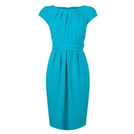 Dilys Tailored Pleat Dress