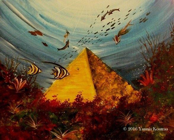 "Mermaid - Fantasy art - Acrylic on Canvas (Love as art - Gifts Ideas)   By Yannis Koutras ""YannisArt"" http://yannisart.webnode.com/"