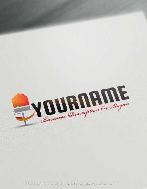 Create a Logo Free – House Painting logo templates