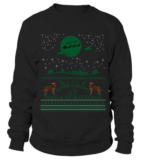 # Dogue De Bordeaux 4 Christmas Sweater Sh .  Dogue De Bordeaux 4 Christmas Sweater Shirt