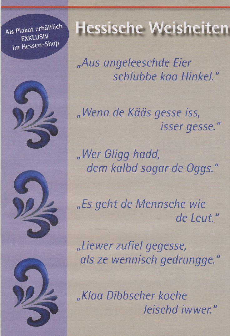 Hessische Weisheiten.