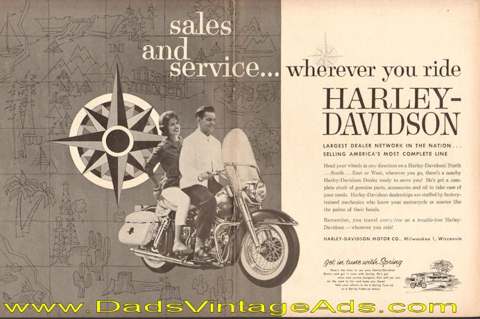1962 Harley-Davidson – sales and service wherever you ride