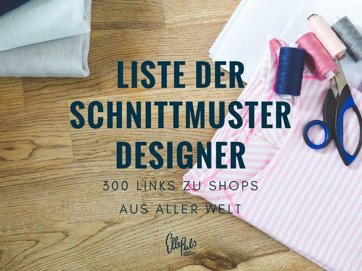 Die lange Liste der Schnittmuster Designer - List of sewing pattern designers   Elle Puls