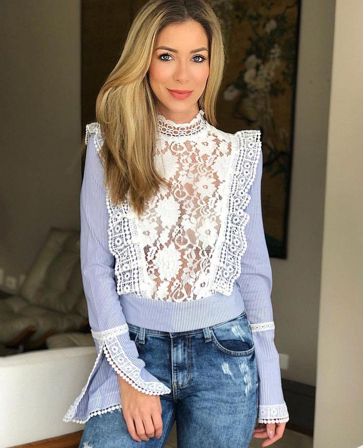 Repost @helena_lunardelli  Inspiração vitoriana na camisa mais linda do mundo! @LNbrand_ sempre surpreendendo com as misturas de rendas e…