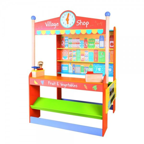 Magnificent Play Village Shop From BigJigs Kids Who Enjoy Playing Will Love This Vibrant Wooden Store