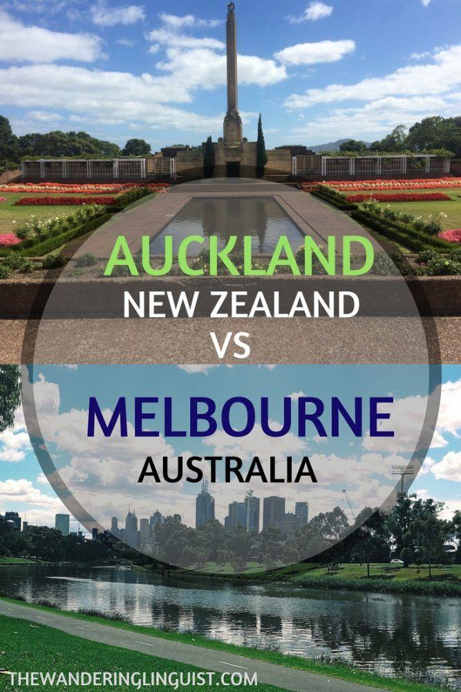 Auckland or Melbourne city comparison