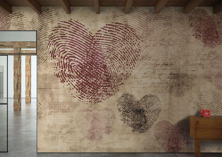 Carta da parati - Heartprint - Glamora