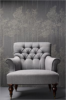 Mark Alexander chair in taupe ( a foundation color with versatility).