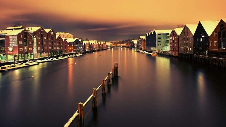 Trondheim in winter.